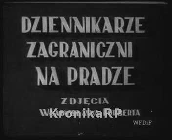 Dziennikarze zagraniczni na Pradze