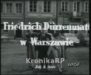 Friedrich Duerrenmatt w Warszawie