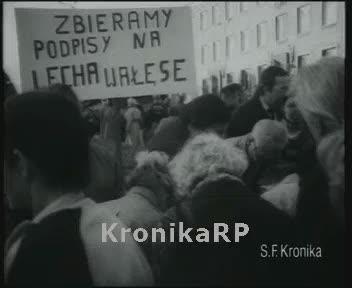 Początek kampanii - zbieranie podpisów na Wałęsę i Mazowieckiego