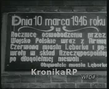 Pierwsza rocznica wyzwolenia miasta Lęborka