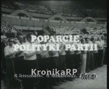 Poparcie polityki partii