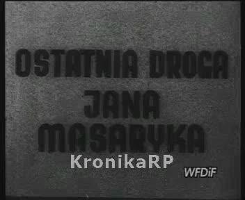 Ostatnia droga Jana Masaryka