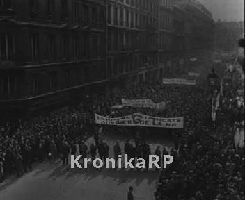 Demonstracje w Paryżu