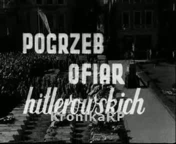 Pogrzeb ofiar hitlerowskich