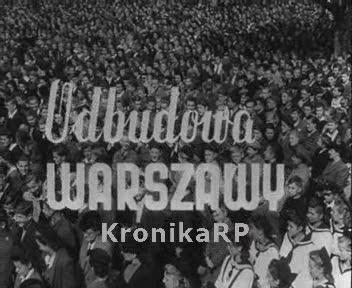 Odbudowa Warszawy - manifestacja młodzieży