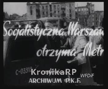 Socjalistyczna Warszawa otrzyma Metro