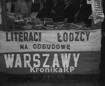 Literaci łódzcy na odbudowę Warszawy