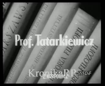 Prof. Tatarkiewicz