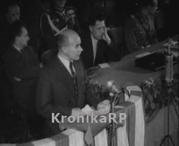 Zjazd uczestników walki zbrojnej z Niemcami - Władysław Gomułka