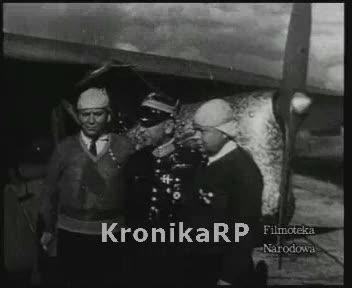 Powitanie polskich lotników - braci Adamowicz - po przelocie przez Atlantyk